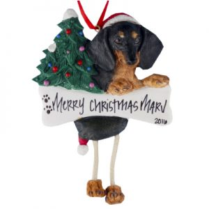 Dachshund (Black & Tan) Christmas Ornament