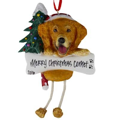 golden retriever personalized ornament