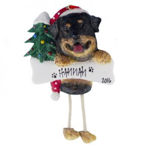 Rottweiler Christmas Ornament