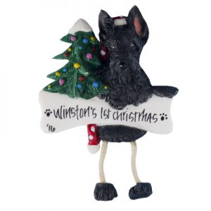Scottie Christmas Ornament