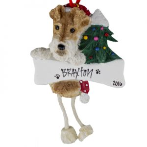 Wirefox Terrier Christmas Ornament