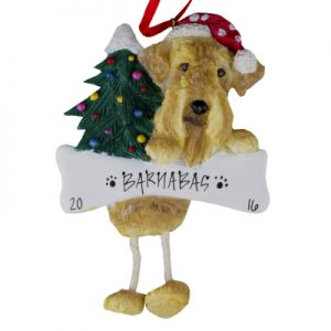 Airedale Christmas Ornament