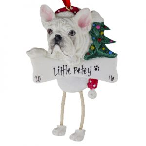 French Bulldog (Cream) Christmas Ornament