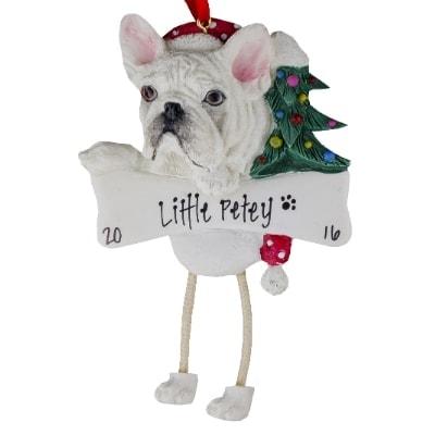 French Bulldog Christmas Ornament.French Bulldog Cream Personalized Ornament