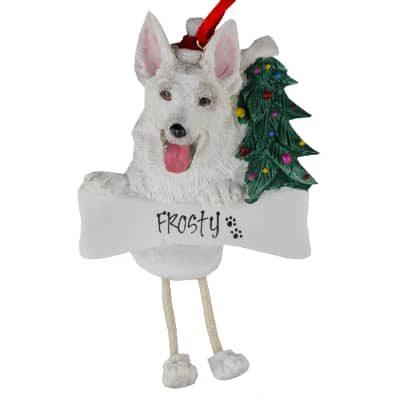 German Shepherd (White) Christmas Ornament