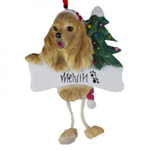 Cocker Spaniel (Blonde) Christmas Ornament