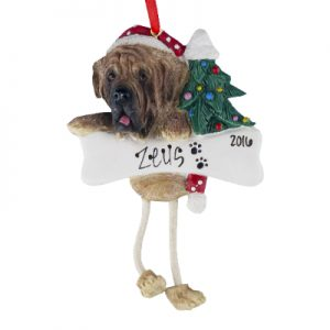 Mastiff Christmas Ornament