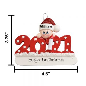 2021 Babys First Christmas Personalized Christmas Ornament