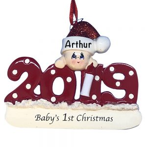 Baby's 1st Christmas 2019 Personalized Christmas Ornament