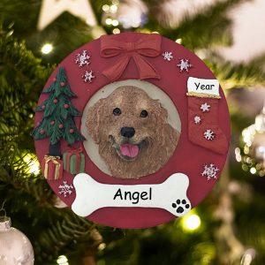 Personalized Golden Retriever Christmas Ornament