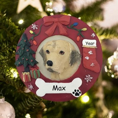 Personalized Yellow Lab Christmas Ornament