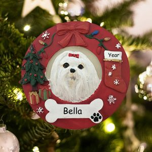 Personalized Maltese Christmas Ornament