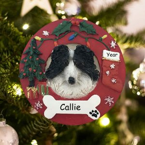 Personalized Border Collie Christmas Ornament
