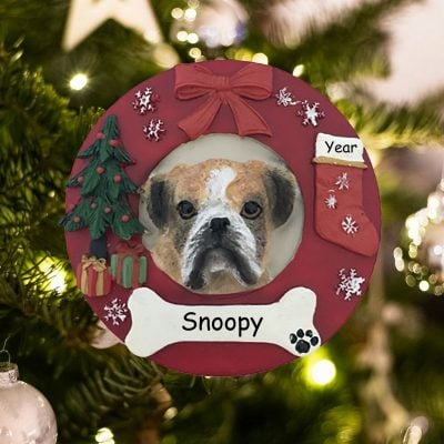 Personalized Boxer Christmas Ornament