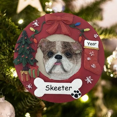 Personalized Bulldog Christmas Ornament