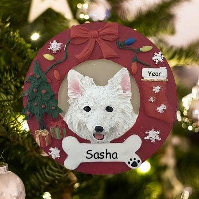 Personalized American Eskimo Christmas Ornament