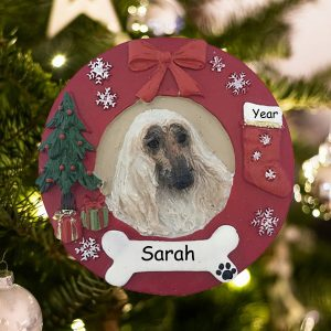 Personalized Afghan Christmas Ornament