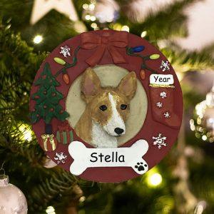 Personalized Basenji Christmas Ornament