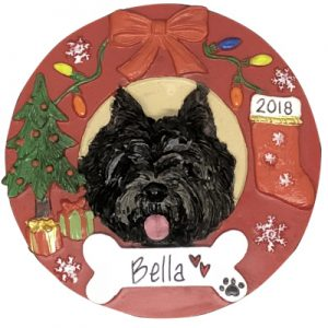 Cairn Terrier - Black Personalized Ornament