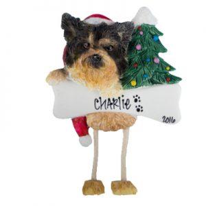 Yorkie (Puppy Cut) Christmas Ornament