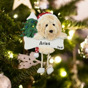 Personalized Goldendoodle Christmas Ornament