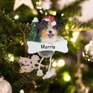 Personalized Australian Shepard Christmas Ornament