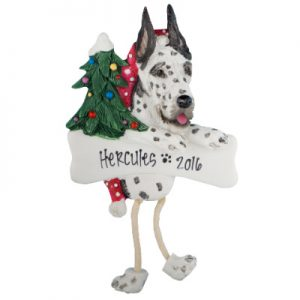 Harlequin Dane Christmas Ornament