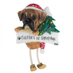 Boxer (Brindle, Uncropped) Christmas Ornament
