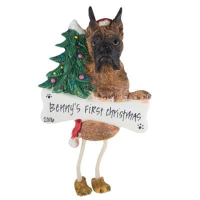 Boxer (Brindle, Cropped) Christmas Ornament