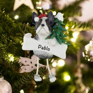 Personalized Boston Terrier Christmas Ornament