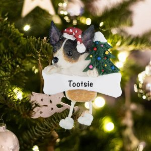 Personalized Rat Terrier Christmas Ornament