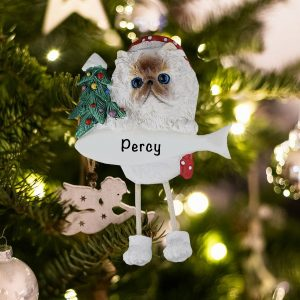Personalized Himalayan Cat Christmas Ornament