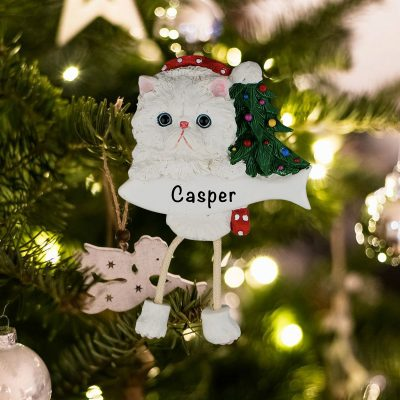 Personalized Persian Cat Christmas Ornament