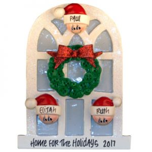 Christmas Window Family Of 3 Christmas Ornament