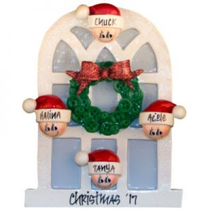 Christmas Window Family Of 4 Christmas Ornament