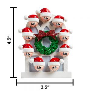 Christmas Window Family of 9 Personalized Christmas Ornament