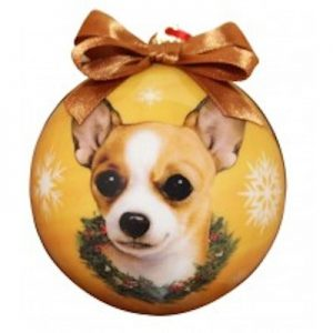 Chihuahua (Tan & White) Christmas Ornament