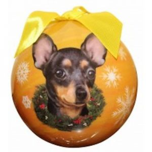 Chihuahua (Black & Tan) Christmas Ornament