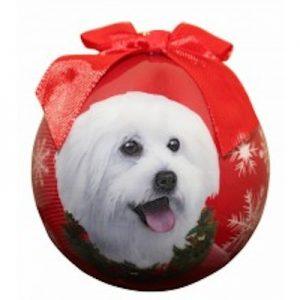 Maltipoo Christmas Ornament