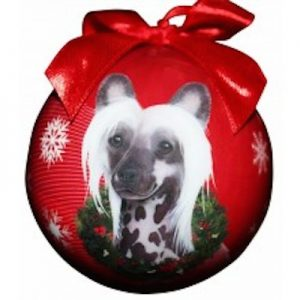 Chinese Crested Dog Christmas Ornament