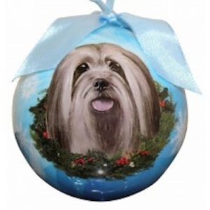 Lhasa Apso Christmas Ornament