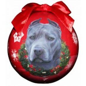 Pit Bull (Blue) Christmas Ornament