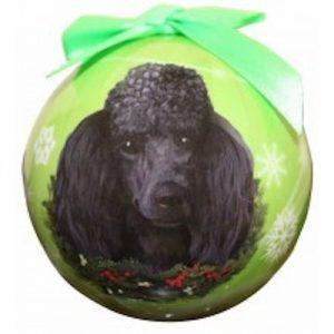 Poodle (Black) Christmas Ornament