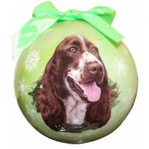 Springer Spaniel Christmas Ornament