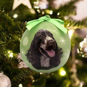Personalized Springer Spaniel Christmas Ornament