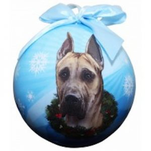 Great Dane (Fawn) Christmas Ornament