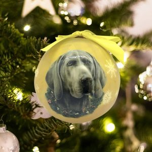 Personalized Weimeraner Christmas Ornament