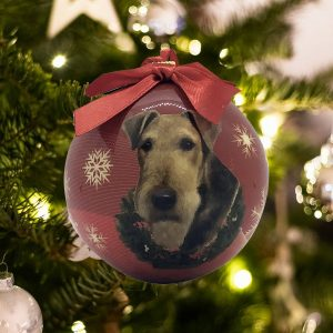 Personalized Airedale Christmas Ornament