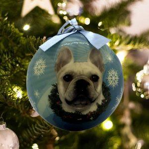 Personalized French Bulldog Christmas Ornament