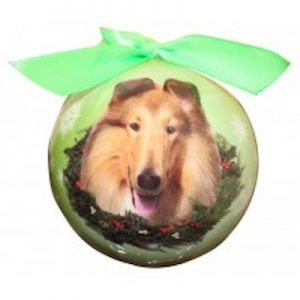 Collie Christmas Ornament